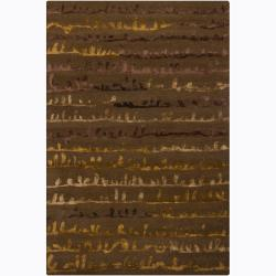 Hand-tufted Mandara Brown Geometric Rug (7'9 x 10'6)