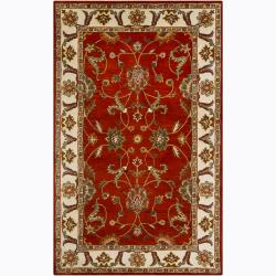 Traditional Hand-Tufted Mandara Oriental Wool Rug (5' x 8')