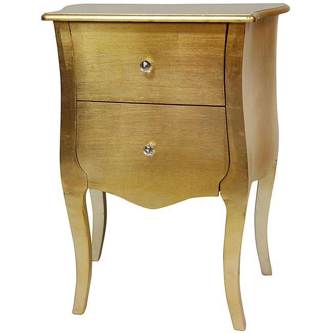 Gold Leaf Two Drawer Cabinet (China)
