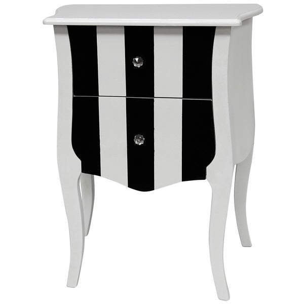 Black and White Two Drawer Cabinet (China)