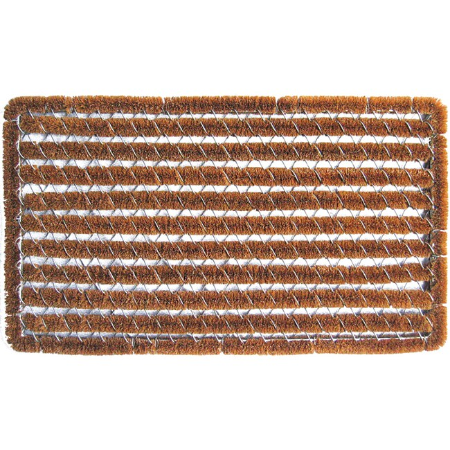 Rectangle Stripes Shoe Scraper Doormat
