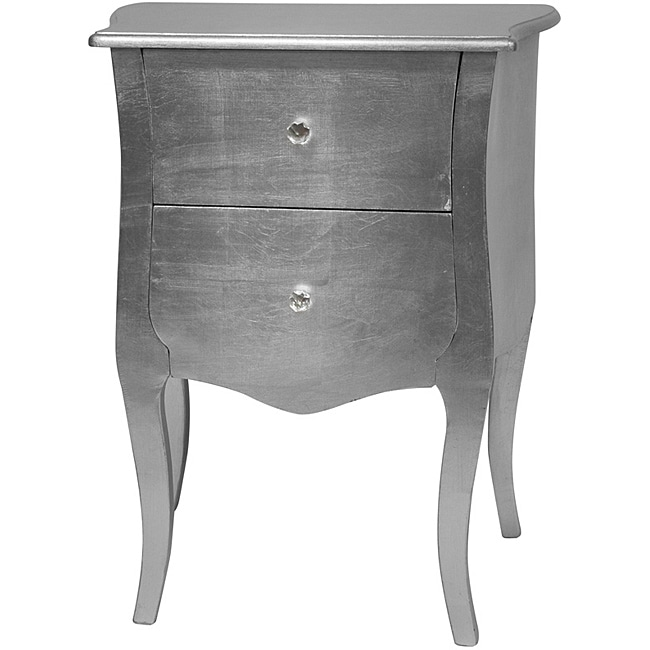 Silver Leaf Two-Drawer Cabinet (China)