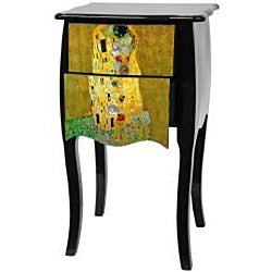 Klimt 'The Kiss' Two Drawer Cabinet (China)