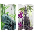 Double-sided 6-foot Serenity Buddha Room Divider (China)