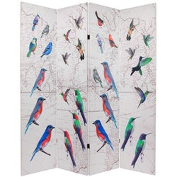 Double-sided 6-foot Birds Room Divider (China)