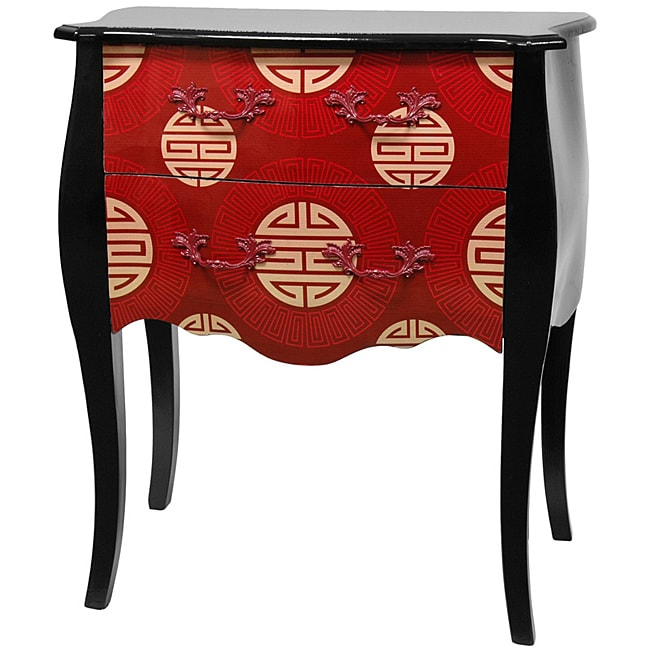 Red Shou Two Drawer Cabinet (China)