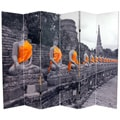 Double-sided 6-foot Golden Buddhas Room Divider (China)