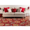 Meticulously Woven Contemporary Red Floral Framlingham Rug (7'10X10')