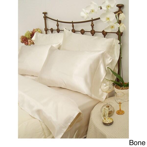 Charmeuse II Satin King-size Sheet Set with Bonus Pillowcases