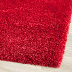 Cozy Solid Red Shag Rug (2'3 x 7')