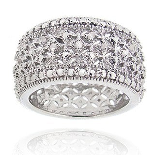 DB Designs Rhodium-plated 1/4ct TDW Diamond Band