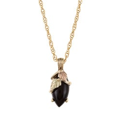 Black Hills Gold Onyx Necklace