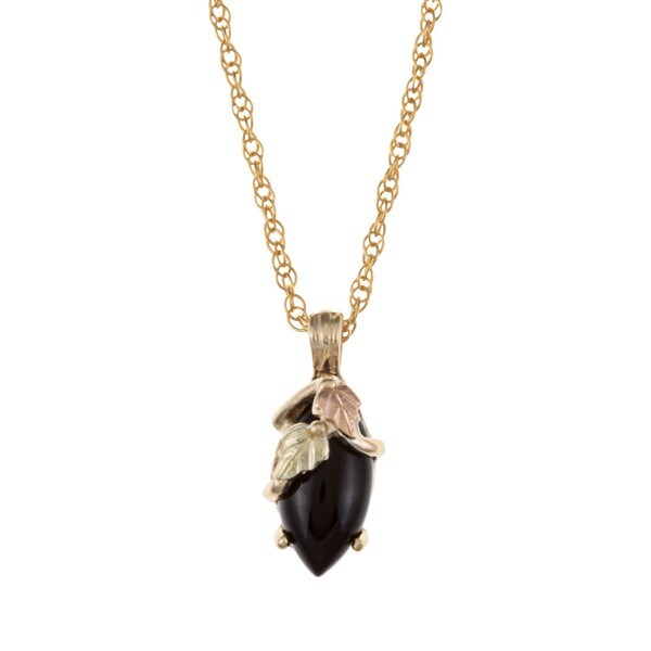 Black Hills Gold Onyx Necklace