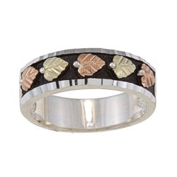 Black Hills Gold and Silver Mens Wedding Band