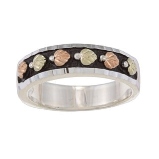 Black Hills Gold and Silver Ladies Wedding Band