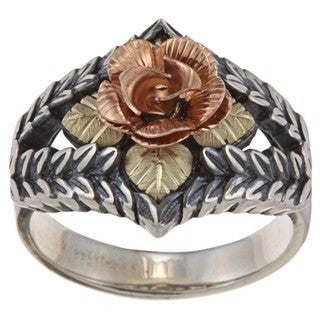 Black Hills Gold and Sterling Silver Dakota Rose Ring