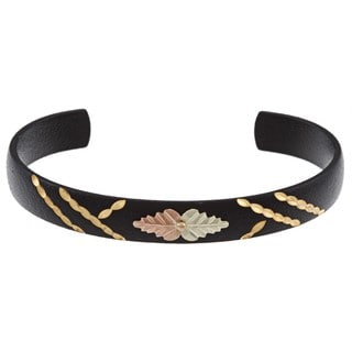 Black Hills Gold Powdercoated Cuff Bracelet