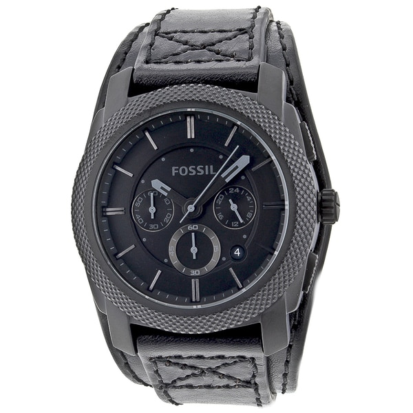 Fossil Men's Chronograph Double Padded Blackout Dial Watch
