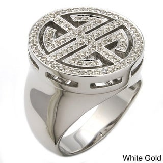 Beverly Hills Charm 14k Gold 1/2ct TDW Chinese 'Long Life' Diamond Ring (H-I, I1) (Size 7)