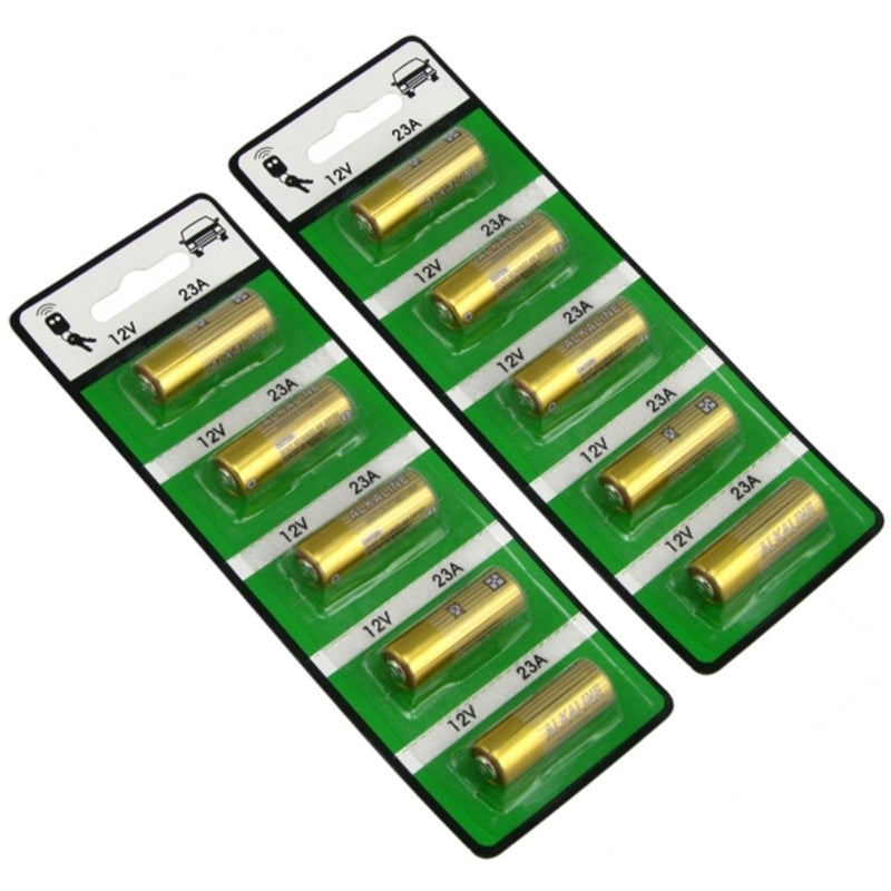 INSTEN 12-volt Alkaline Battery for 23A/ A23/ E23A/ GP23A/ MN21 (Pack of 10)