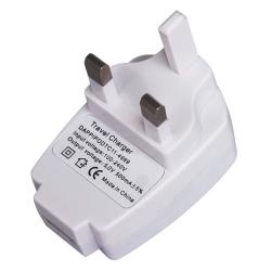 White UK USB Travel Charger Adapter for Apple iPod