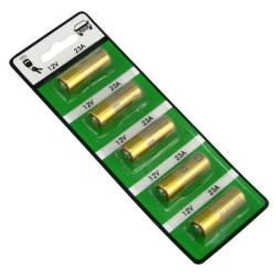 12-volt Alkaline Battery for 23A/ A23/ E23A/ GP23A/ MN21 (Pack of 5)