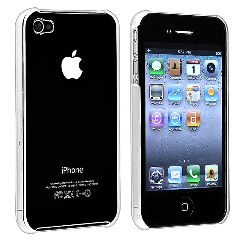 INSTEN Clear Rear Crystal Phone Case Cover for Apple iPhone 4 AT&T/ Verizon