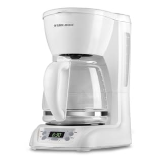 Black & Decker White 12-cup Coffeemaker