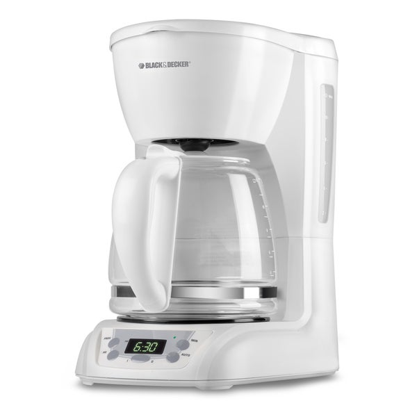 Black & Decker White 12-cup Coffeemaker 8571611