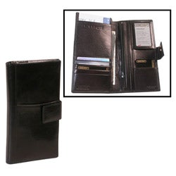 Men's Black Tuscany Leather Travel Wallet