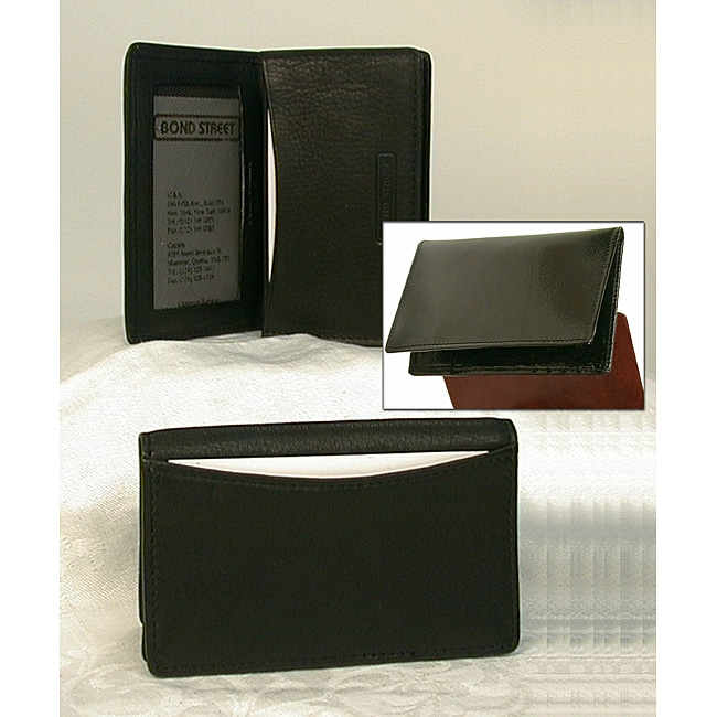Unisex Gusseted Leather Business Card Case