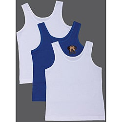 Ilusion Boy's Cotton Monkey Undershirts/Tank Tops (Set of 3)