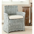 Safavieh St Thomas Indoor Wicker Washed-out Grey Arm Chair