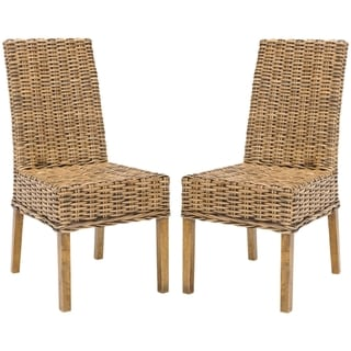 Safavieh St Thomas Indoor Wicker Brown Side Chairs (Set of 2)