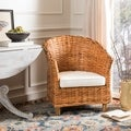 Safavieh St. Thomas Indoor Wicker Honey Brown Barrel Chair