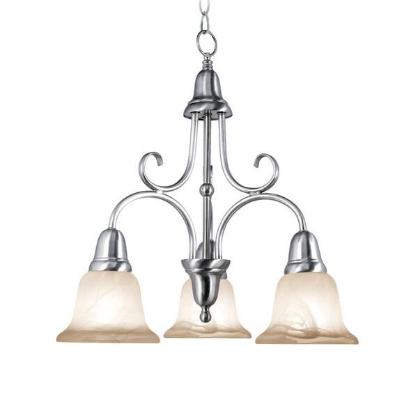 Woodbridge Lighting Hudson Glen 3-light Satin Nickel Chandelier