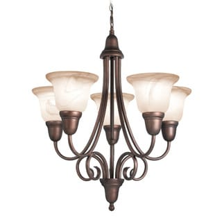 Woodbridge Lighting Hudson Glen 5-light Marbled Bronze Chandelier