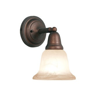 Woodbridge Lighting Hudson Glen 1-light Marbled Bronze Bath Sconce
