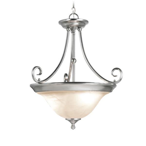 Woodbridge Lighting Hudson Glen 3-light Satin Nickel Pendant