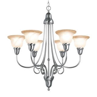 Woodbridge Lighting Hudson Glen 6-light Satin Nickel Chandelier