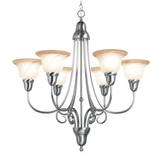 Woodbridge Lighting Hudson Glen 6-light Satin Nickel Chandelier