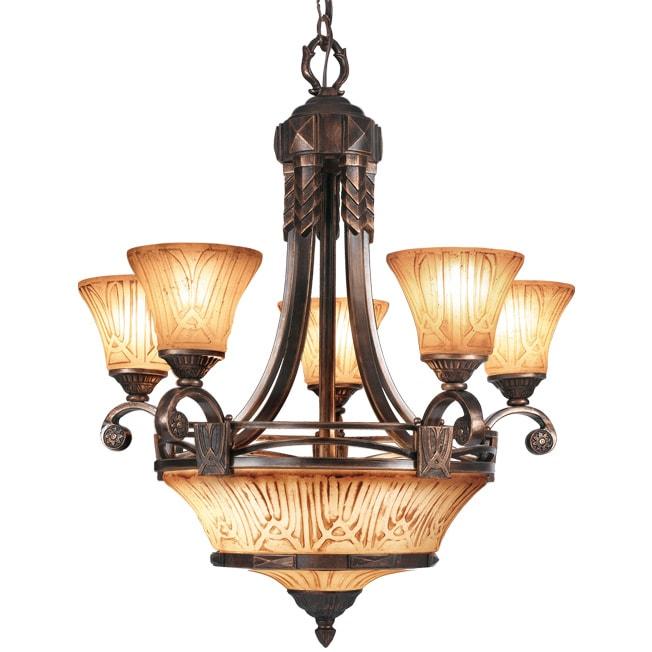 Woodbridge Lighting Sebastian 8-light Tuscan Bronze Chandelier
