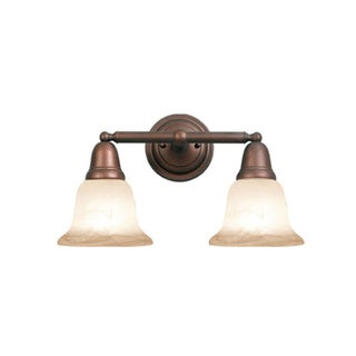 Woodbridge Lighting Hudson Glen 2-light Marbled Bronze Bath Bar