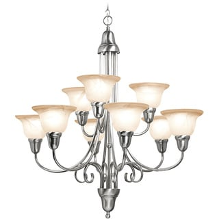 Woodbridge Lighting Hudson Glen 9-light Satin Nickel Chandelier