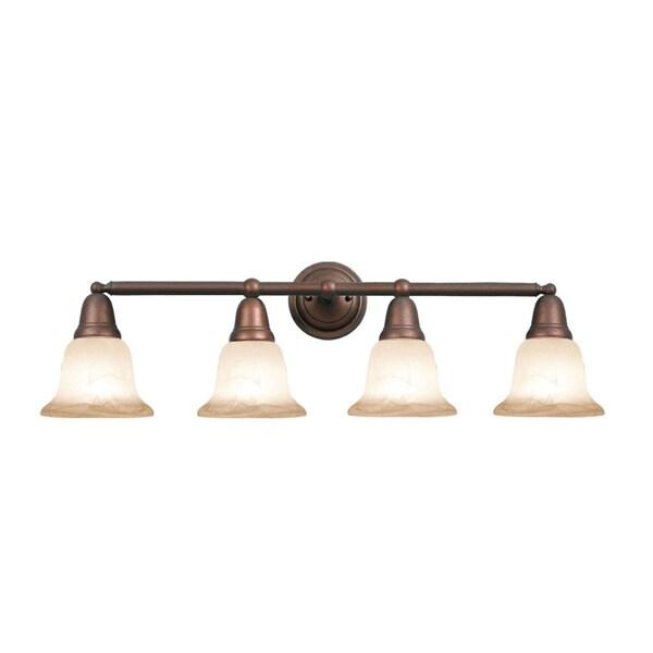 Woodbridge Lighting Hudson Glen 4-light Marbled Bronze Bath Bar