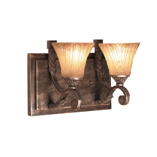 Woodbridge Lighting Sebastian 2-light Tuscan Bronze Bath Bar