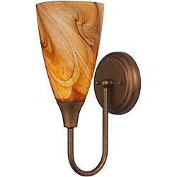 Woodbridge Lighting 1-light Marbled Bronze AE01 Wall Sconce