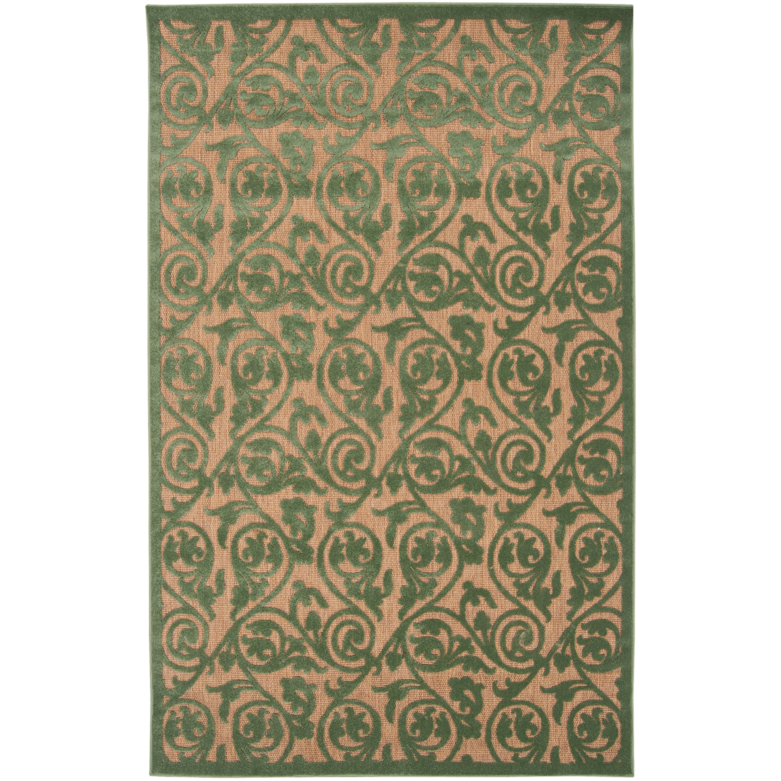 Woven Portera Indoor/Outdoor Floral Rug (7'10 x 10'8)
