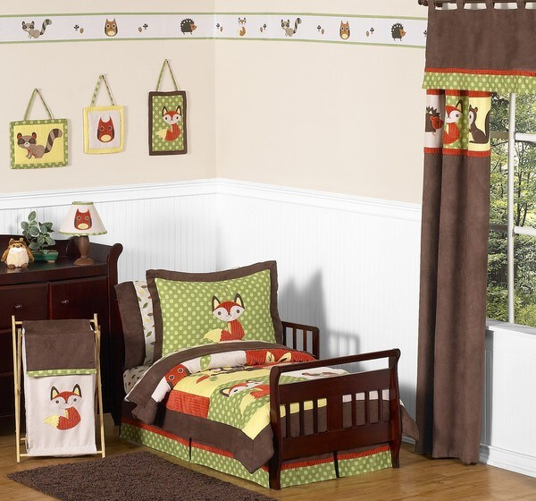 Sweet JoJo Designs Forest Friends 5 piece Toddler Bedding Set
