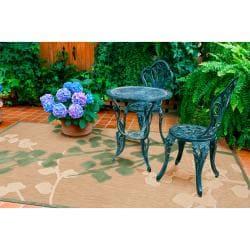 Alsek Indoor/Outdoor Floral Rug (7'10 x 10'8)